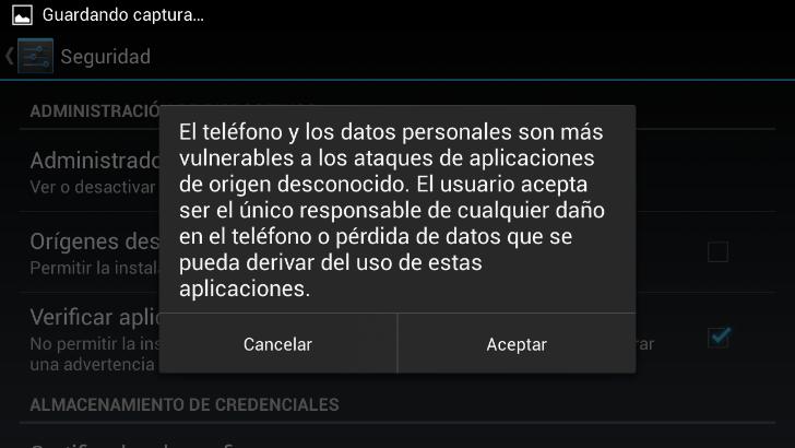 Instalar Aplicaciones APK en Android : Fuentes desconocidas (2)