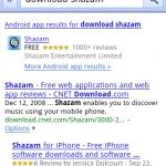 Busquedas de aplicacoines en Google.com desde un movil añade link especiales