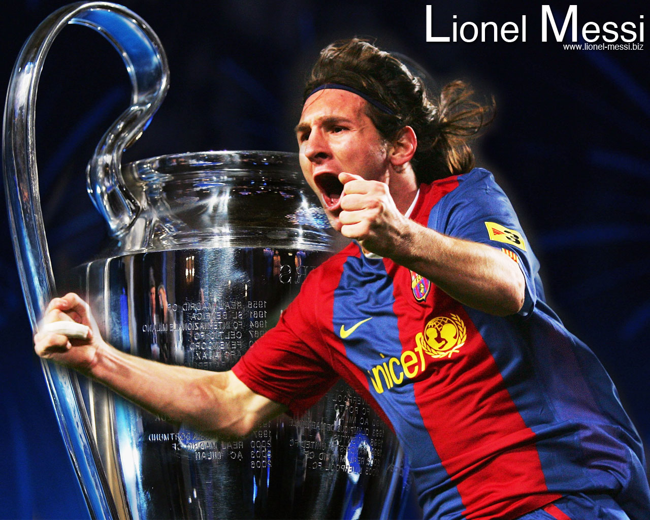 Wallpaper Messi Champions League
