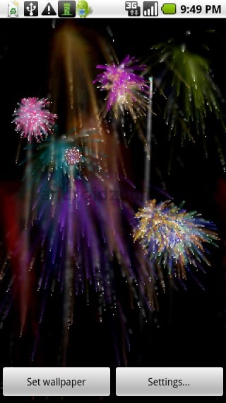 Live Wallpaper Fireworks