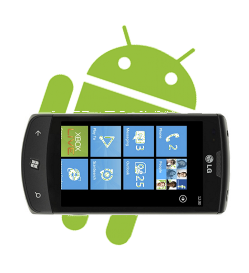 wndows phone android launcher logo