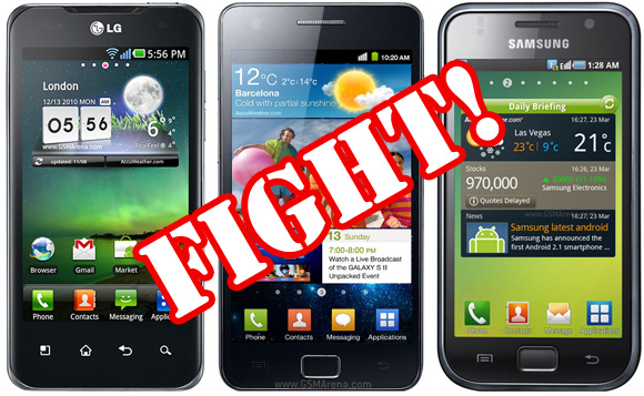 Samsung Galaxy S2 vs Galaxy S Plus vs LG Optimus 2X