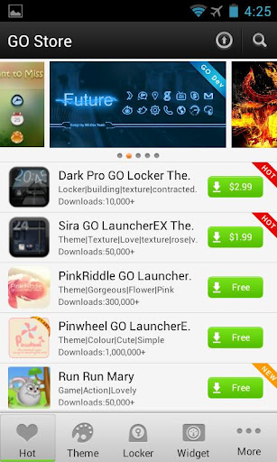 descargar go launcher android 2.1