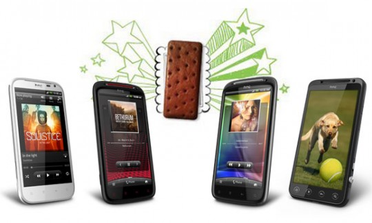 ¿Qué dispositivos HTC se actualizarán a Ice Cream Sandwich?
