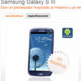 España: Precios del Samsung Galaxy S3 en Orange