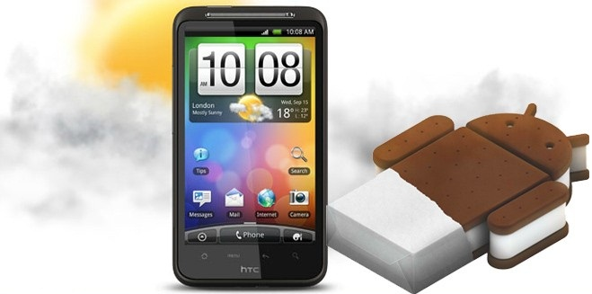 HTC Desire HD  Android 4.0 ICS