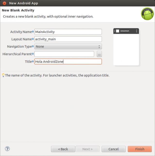 Asistente Nueva Aplicación Android paso 4