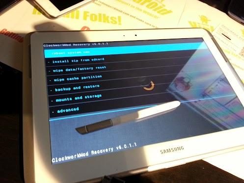 ClockMod Touch 6.0.1.1 en Samsung Note 10.1
