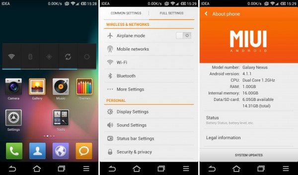MIUI Build 2.8.17 basada en Android 4.1 Jelly Bean