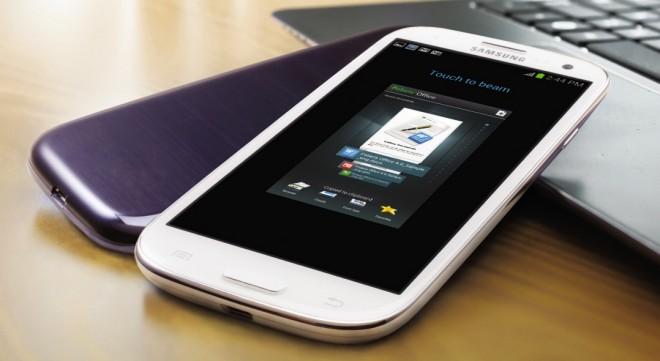Samsung Galaxy S III usando S Beam