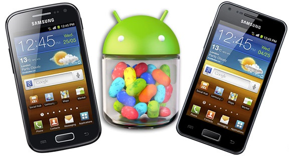 Ace Galaxy S 2 and Advance Jelly Bean