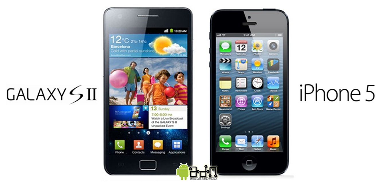 iphone 5 vs samsung galaxy s2 android zone. Black Bedroom Furniture Sets. Home Design Ideas
