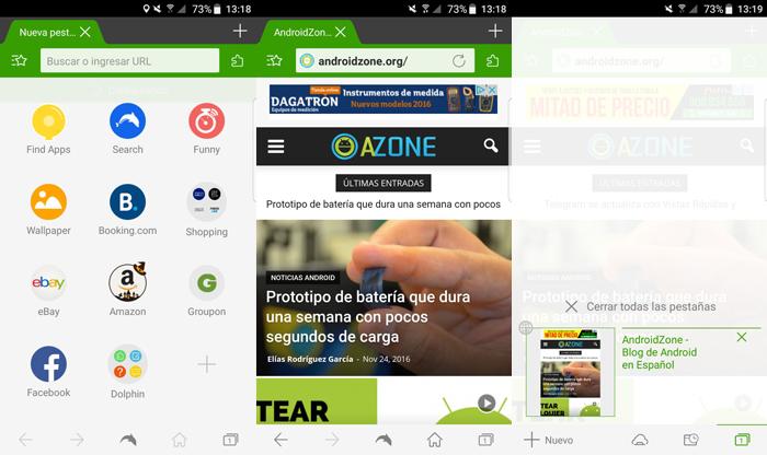 Navegadores Web Android Dolphin