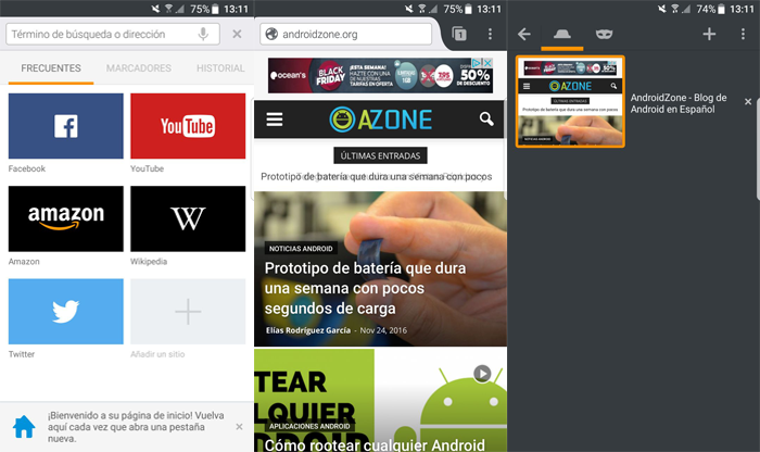 Navegadores Web Android Firefox