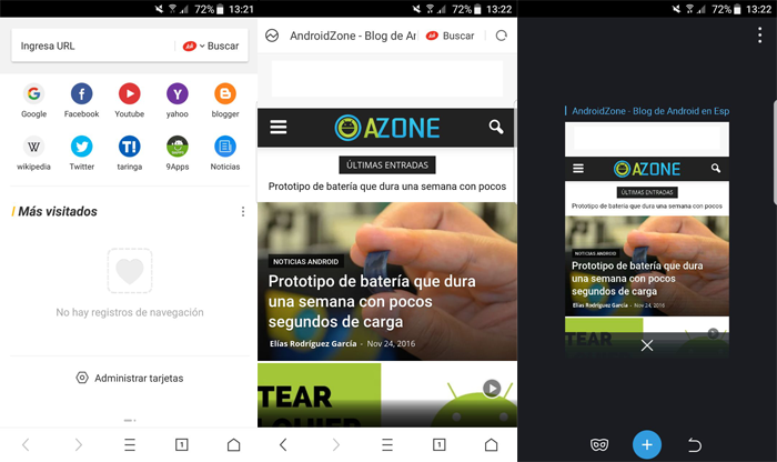 Navegadores Web Android UC Browser