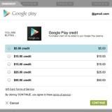 Comprar Credito en Google PLAY