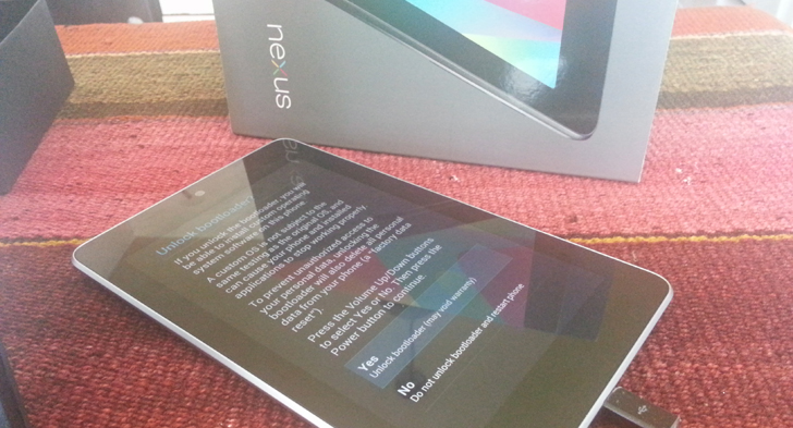 Nexus 7 Unlock Bootloader Toolkit