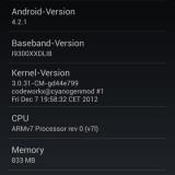 Samsung Galaxy S3 CyanogenMod 10.1-3