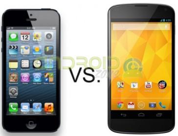iPhone 5 vs Nexus 4 AZ
