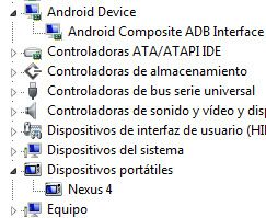 Root Nexus4 Drivers ADB Instalados