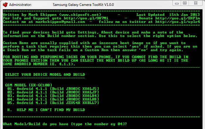Toolkit Galaxy Camera
