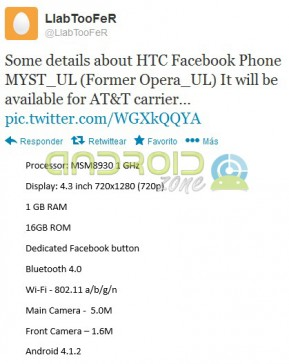 Facebook Phone HTC AZ