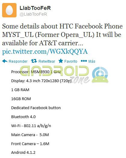 Facebook Phone HTC AZ