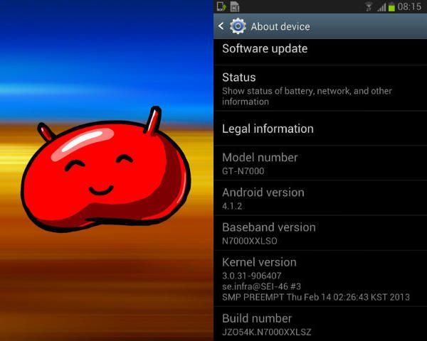 Galaxy Note Android 412 Jelly Bean