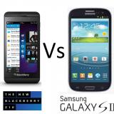 Galaxy S3 vs BlackBerry Z10