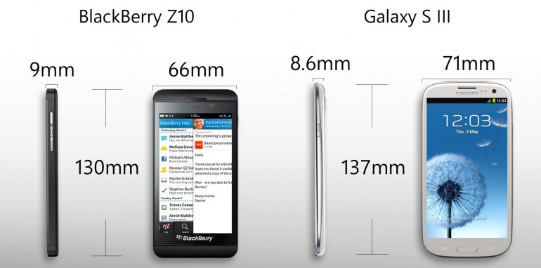 Galaxy S3 vs BlackBerry Z10-2