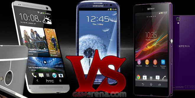 Galaxy S3 vs HTC One vs Xperia Z