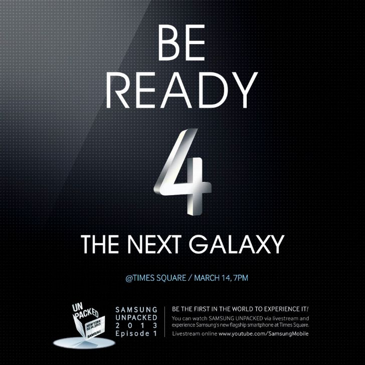 Galaxy S4 be ready