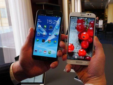 LG Optimus G Pro vs Samsung Galaxy Note 2