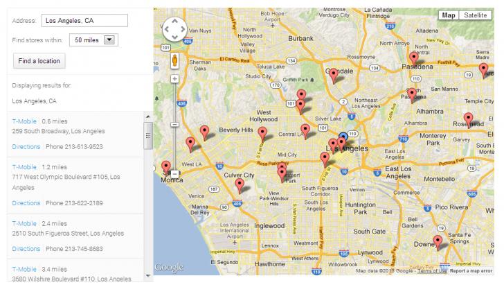 Nexus Store Locator