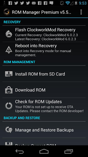 ROM Manager 1