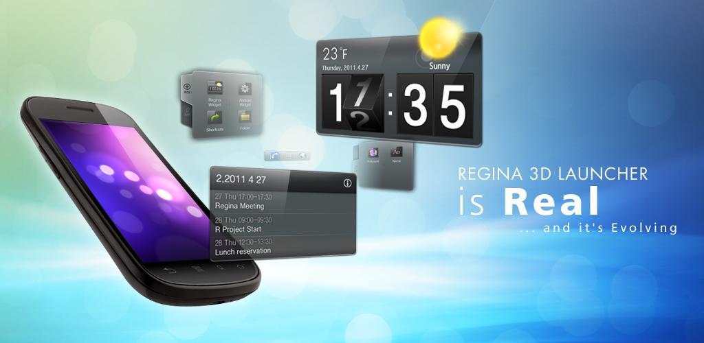 Regina 3D Launcher Android-2