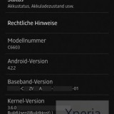 Xperia Z Android 422 JB