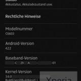 Xperia Z Android 422 JB