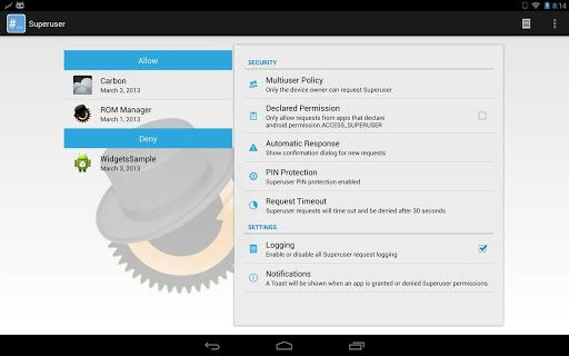 Android ClockworkMod Superuser