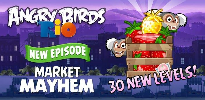 Angry Birds Rio Market Mayhem