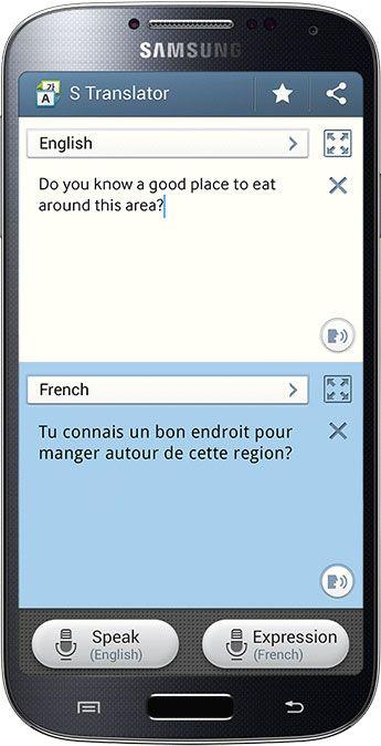 Galaxy S4 S Translate