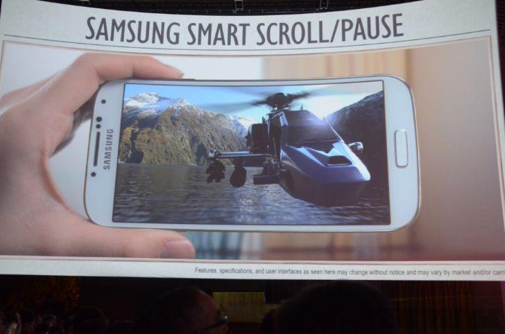 S4 Galaxy Smart Scroll - Smart Pause