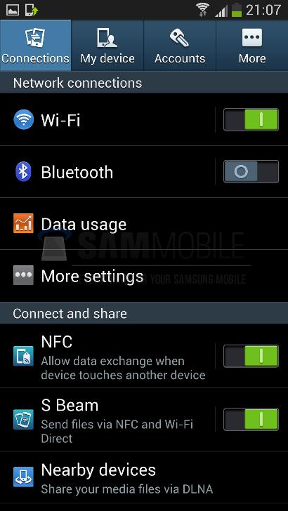 Galaxy S4 configuracion