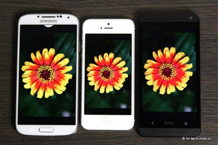 Galaxy S4 vs iPhone 5 vs HTC One