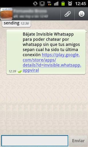 Invisible WhatsApp-