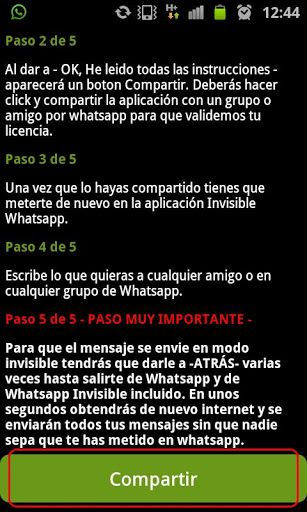 Invisible WhatsApp