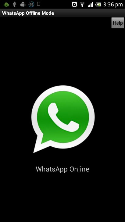 WhatsApp Offline Mode