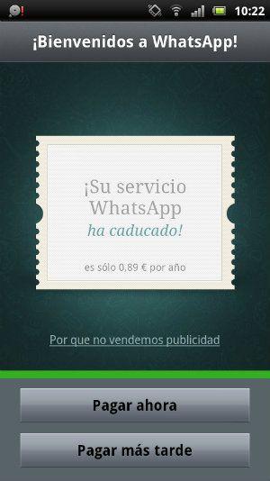 WhatsApp pago-