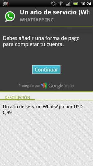 WhatsApp pago
