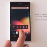AOSP llega al Sony Xperia Z
